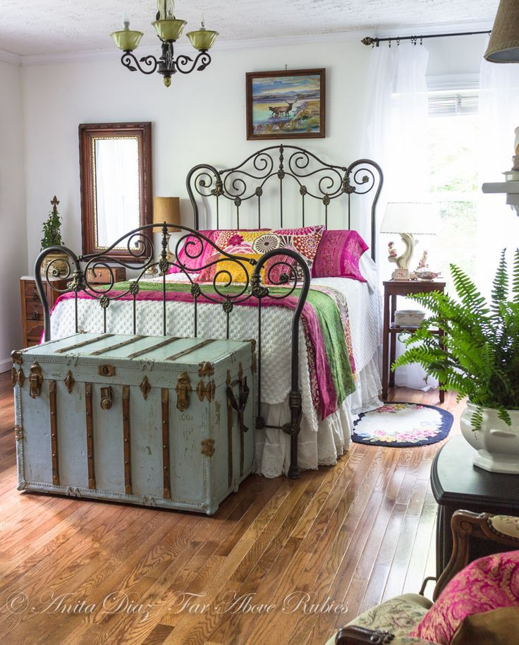 365 best old iron beds images on pinterest bedrooms for Bohemian style bedroom furniture