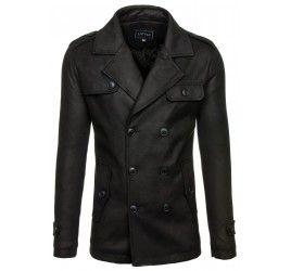 Pánský kabát - Fred, černý | TAXIDO fashion