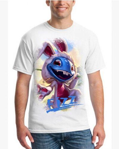 LOL League of Legends Fizz t shirt for men white
