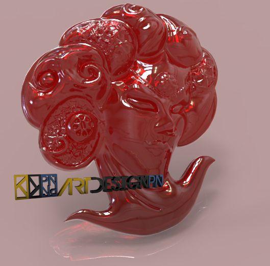maschera veneziana - file realizzato per la stampa 3d con ArtCam JewelSmith