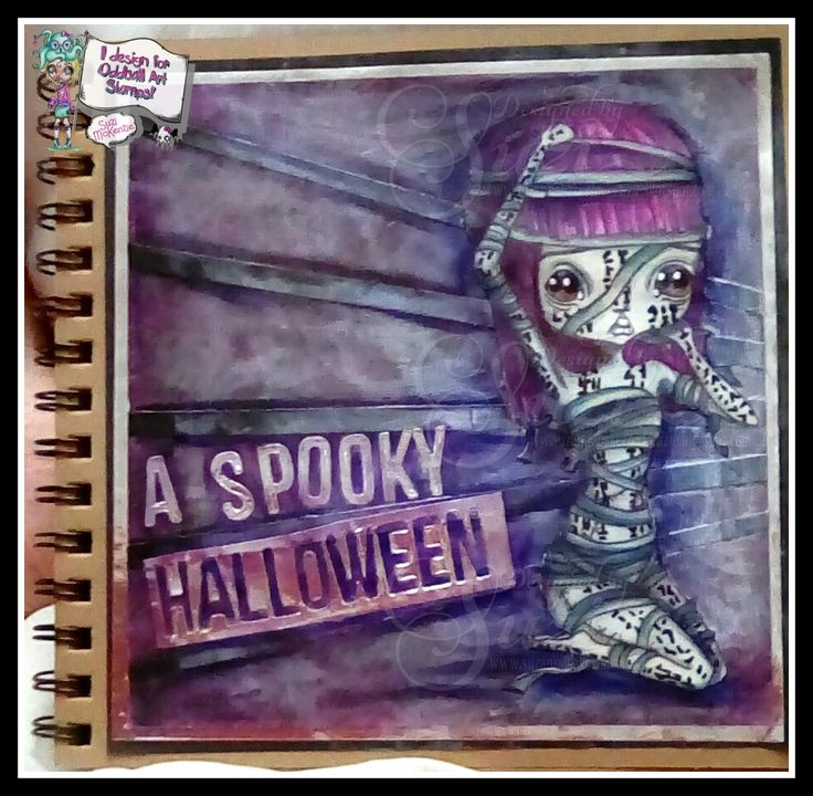 Today I'd like to share with you  a page from my Art Journal that   I've created for Halloween and the latest challenge over at the  Oddbal...