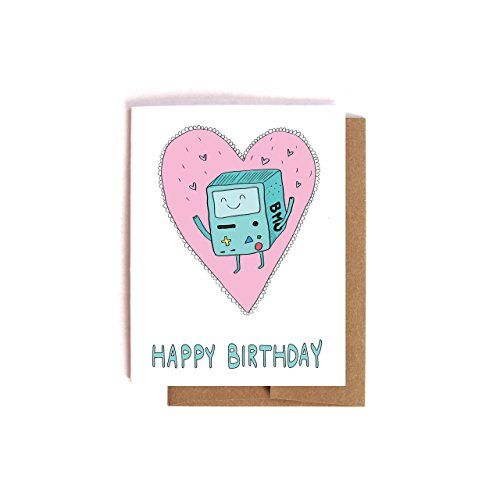 BMO the Robot Adventure Time Birthday Card