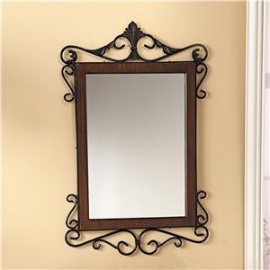 Walnut & Wrought Iron Mirror | Lillian Vernon | Lillian Vernon