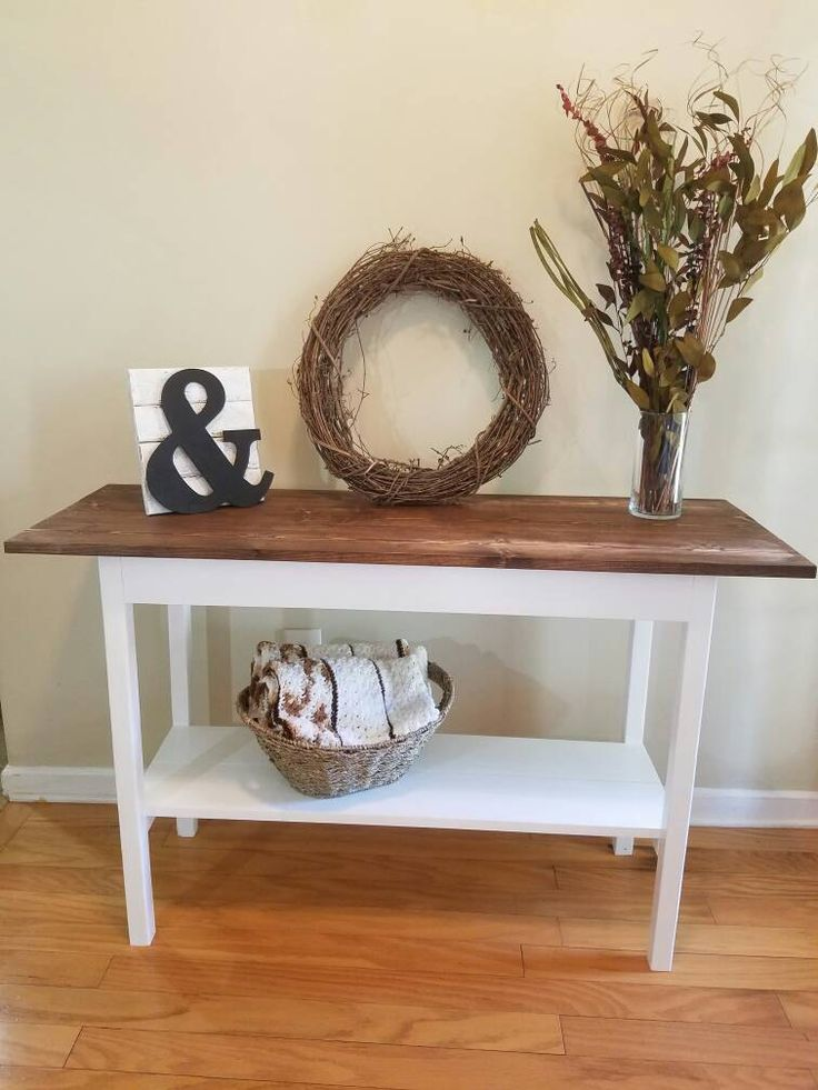 14 best Farmhouse Entryway Tables and Benches Handmade Solid Wood