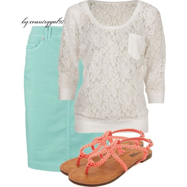 my ootd//summer style, created by countrygal97 on Polyvore
