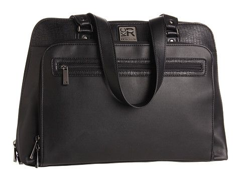 """Kenneth Cole Reaction 16"""" Computer Tote Pocket Black - Zappos.com Free Shipping BOTH Ways"""