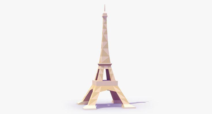 """Résultat de recherche d'images pour """"eiffel tower low poly"""""""