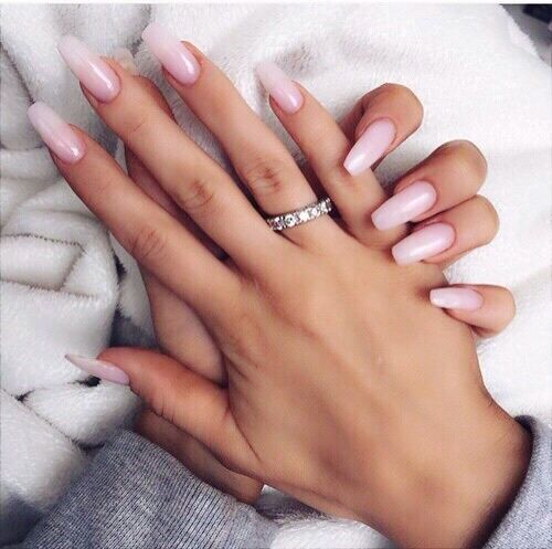 Image de nails, ring, and pink