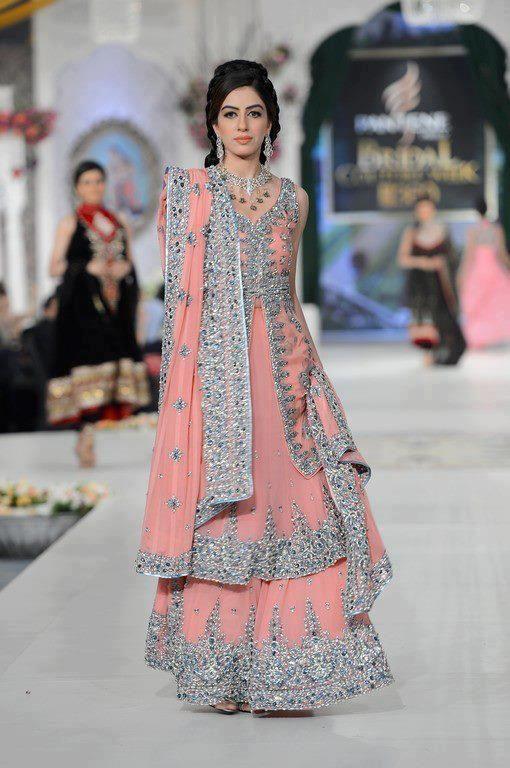 DE Extraordinary Vivid Tangerine Colored Bridal Pakistani Lehenga