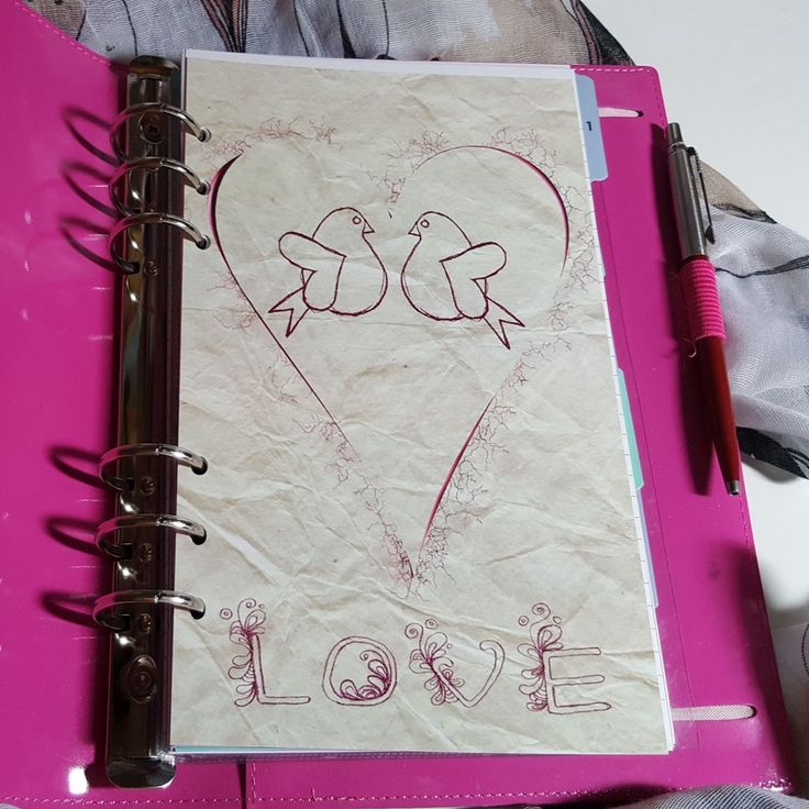 Love Birds A5 Planner Dashboard Ready to go by CarolFleetDesigns on Etsy