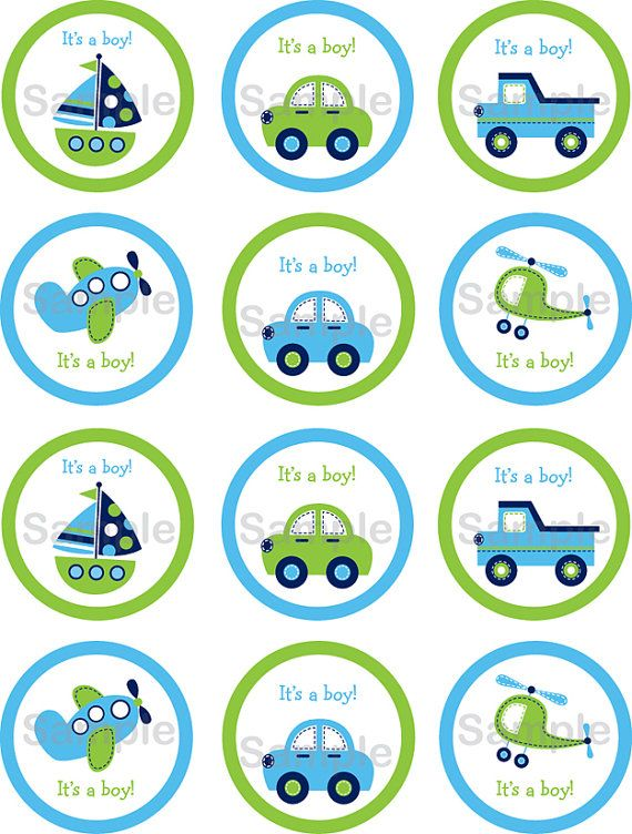 Boys Transportation Car Boat Truck Airplane by LittlePrintsParties, $5.00