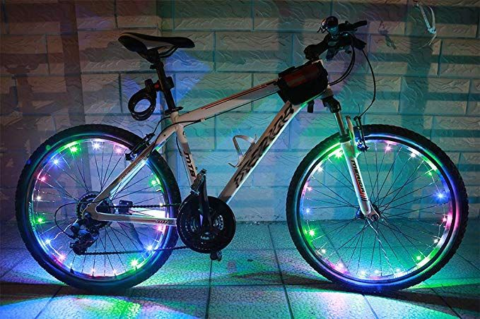Bike Spoke Lights LED Waterproof Cool Bicycle Wheel Light Safety Tire Bike Light