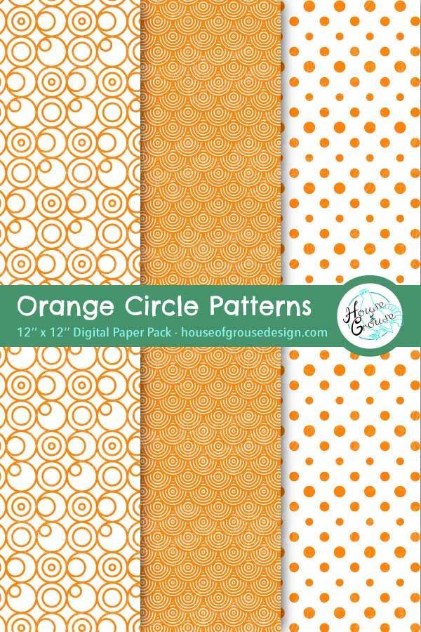 Orange Circles Pattern Set In 2020