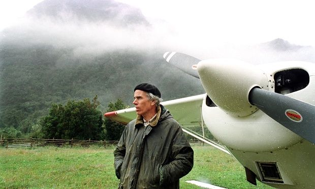 Douglas Tompkins, founder of 'the North Face'  and Esprit founder, in the Palena region of Chile in 2000.