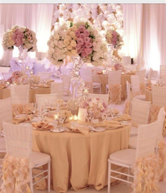 83 best wedding reception decor images on pinterest wedding ideas gold ivory and blush colored wedding reception decor junglespirit Gallery