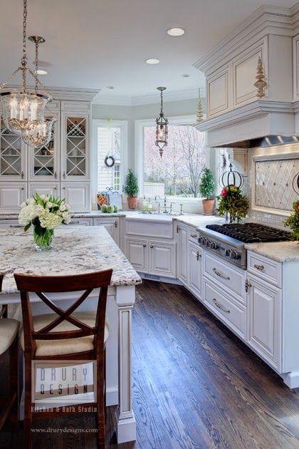 дневник дизайнера: Дизайн кухни из дерева в американском стиле от Drury Design