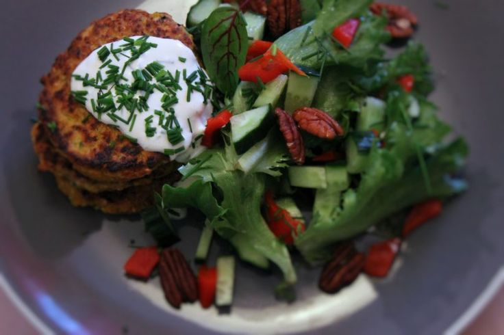 Carrot patties made with left over rice