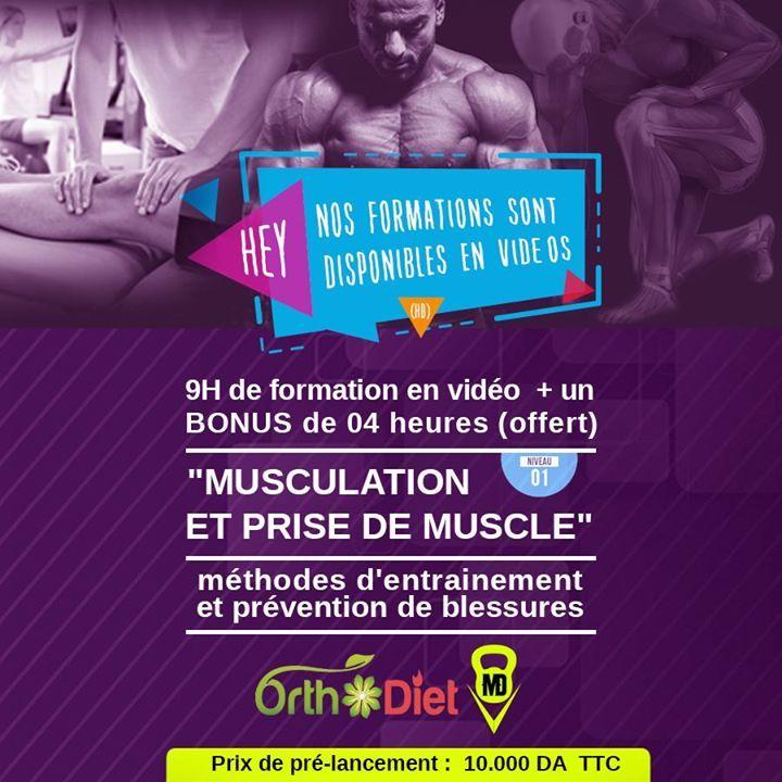 À venir très prochainement : #Formation de plus de 13 heures de vidéo  sur votre espace membre #OrthoDiet sur la thématique :  #Musculation et #prise_de_muscle   Seront abordés les aspects: - Physiologiques (neurophysiologiques hormonaux musculaires) de la prise de muscle - Méthodologie de l'entraînement de la force et de la prise de muscle. - Blessures chez le sportif de la force  La formation  est en phase de prélancement profitez du tarif préférentiel de prélancement car le tarif…