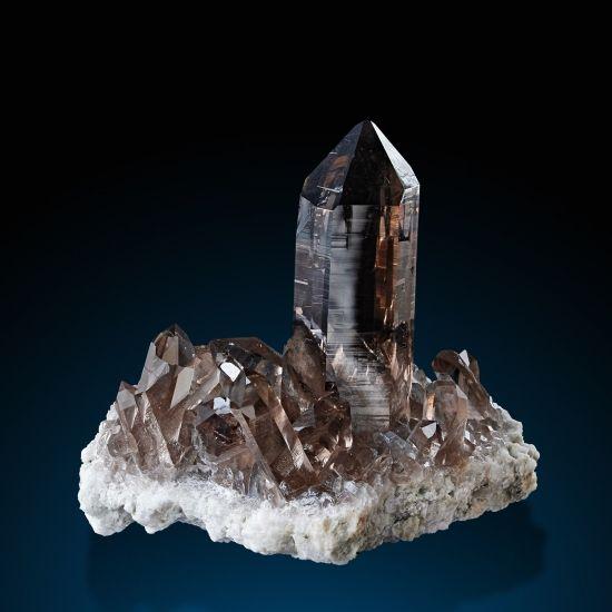 Quartz var.Smoky - Giuv Valley, Tavetsch, Grischun, Switzerland Size: 6.2 × 5.8 × 4.2 cm