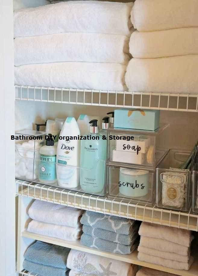 13 Creative Bathroom Organization And Diy Solutions In 2020 Linen Closet Organization Bathroom Organization Diy Linen Closet