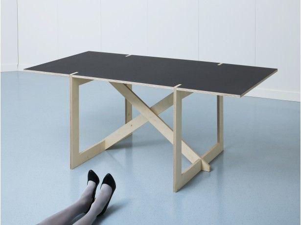 Cool minimal interlocking table from switzerland.