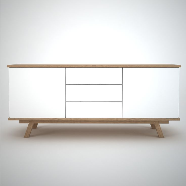 Beautifully designed & crafted contemporary sideboard storage with solid oak support frame. This sideboard offers a fresh design approach to the sideboard storage solution, designed and manufactured in the UK to the highest standard of craftsmanship. <strong>Size:</strong> Bespoke sizes available on request - please contact us with your requirements.