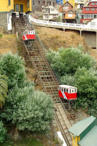 Funicular, Valparaiso, Chile. We have been on this. Beautiful view!
