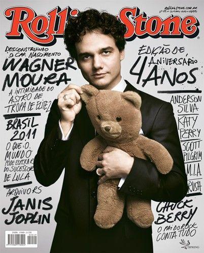 Wagner Moura,na revista Rolling Stone! Entrevista muito bacana,falando sobre o filme Tropa de Elite e sua vida.Adorei !
