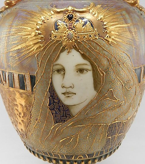 Fabulous Amphora Art Nouveau RSTK Fairy Princess Vase Austria 1900 | eBay | JV