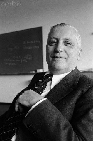 """Ilya Prigogine (1917-2003), Russian-Belgian physical chemist. Nobel laureate """"for his contributions to non-equilibrium thermodynamics, particularly the theory of dissipative structures"""""""