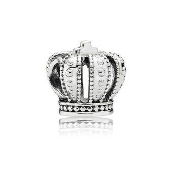Crown Jewels Royal Crown Silver Charm - PANDORA