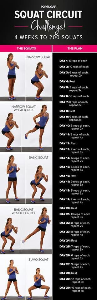 Not sure why anyone would want to do 200 squats in a day but hey I'm up for a challenge