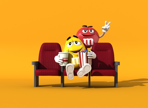 MM's (Yellow & Red) by Andre Lopes, via Behance