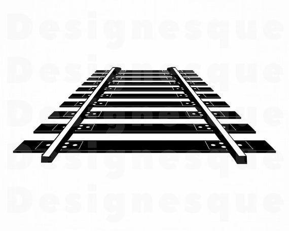 Rail Tracks Svg Railway Track Svg Railroad Svg Train Svg Etsy Clip Art Svg Clipart Black And White