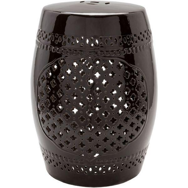 Abi Ceramic Outdoor Stool (12 x 12 x 18)