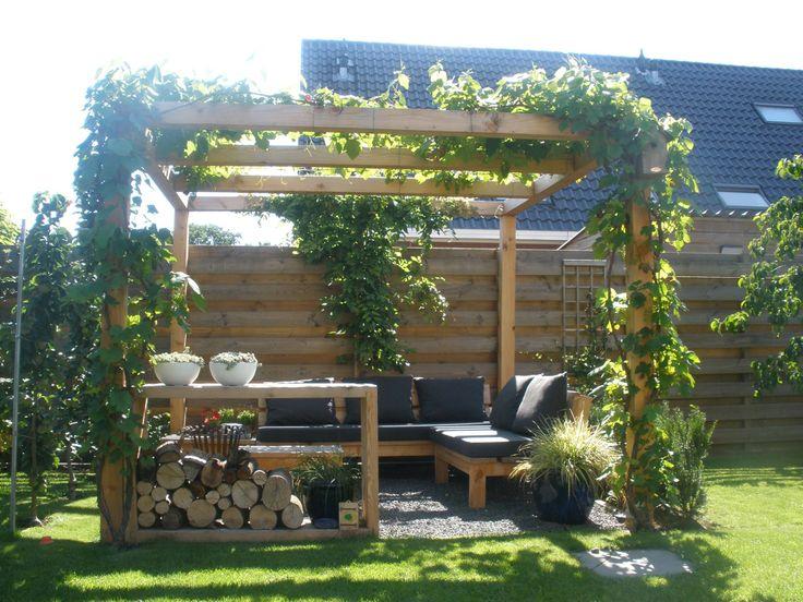 53 beste afbeeldingen over tuin op pinterest tuinen kind achtertuin en terrasplanken - Omslag van pergola ...