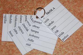 Školní hrátky: Kartičky - zásobník slov k přepisu