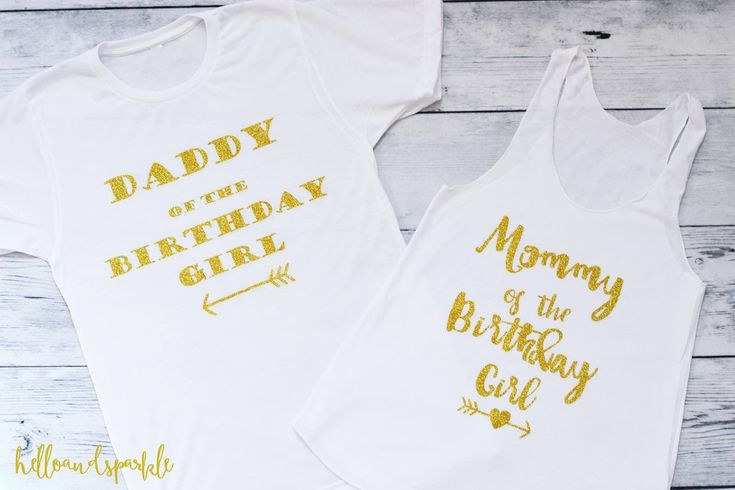 Mommy and Daddy of the Birthday Girl Shirts