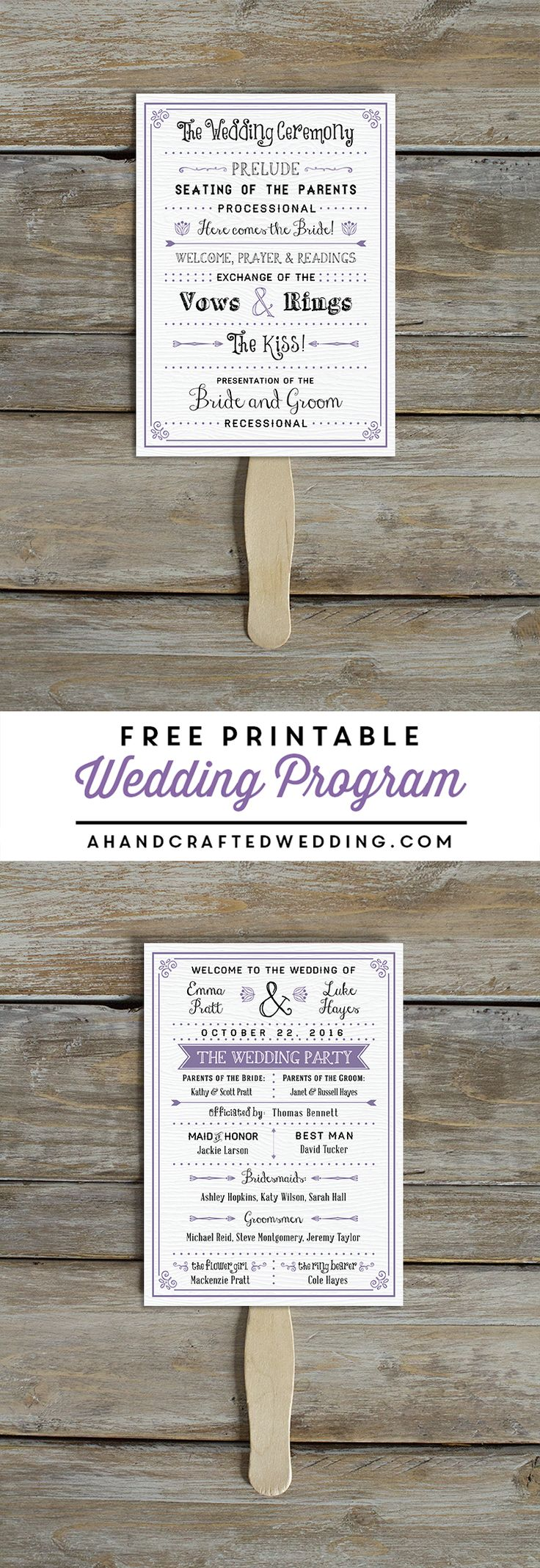Looking for a printable wedding program? Download this FREE Printable Wedding Program and print as many copies as you would like! MountainModernLife.com