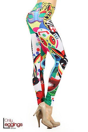 Explore into the wonderful world of art. Our Summer Picasso Leggings have colorful abstract images creating an amazing combination that will dazzle the visual senses when you wear them.  A completely original design, our Summer Picasso Leggings will add sassy and sexy female imagery and a one of a kind women's fashion look to your leggings wardrobe.