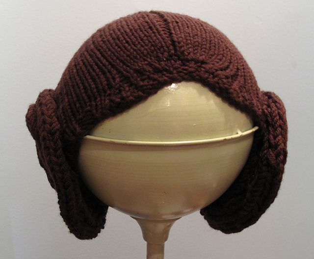 princess leia hair knitting pattern halloween star wars. I want to knit this ...
