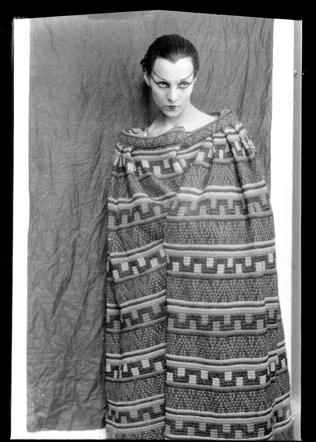 Genica Athanasiou wearing a theatre costume by made by Gabrielle Chanel for Antigone by Jean Cocteau, 1922 © Man Ray Trust, ADAGP Paris 2016, Photo Centre Pompidou, MNAM-CCI, DIST. RMN-Grand Palais