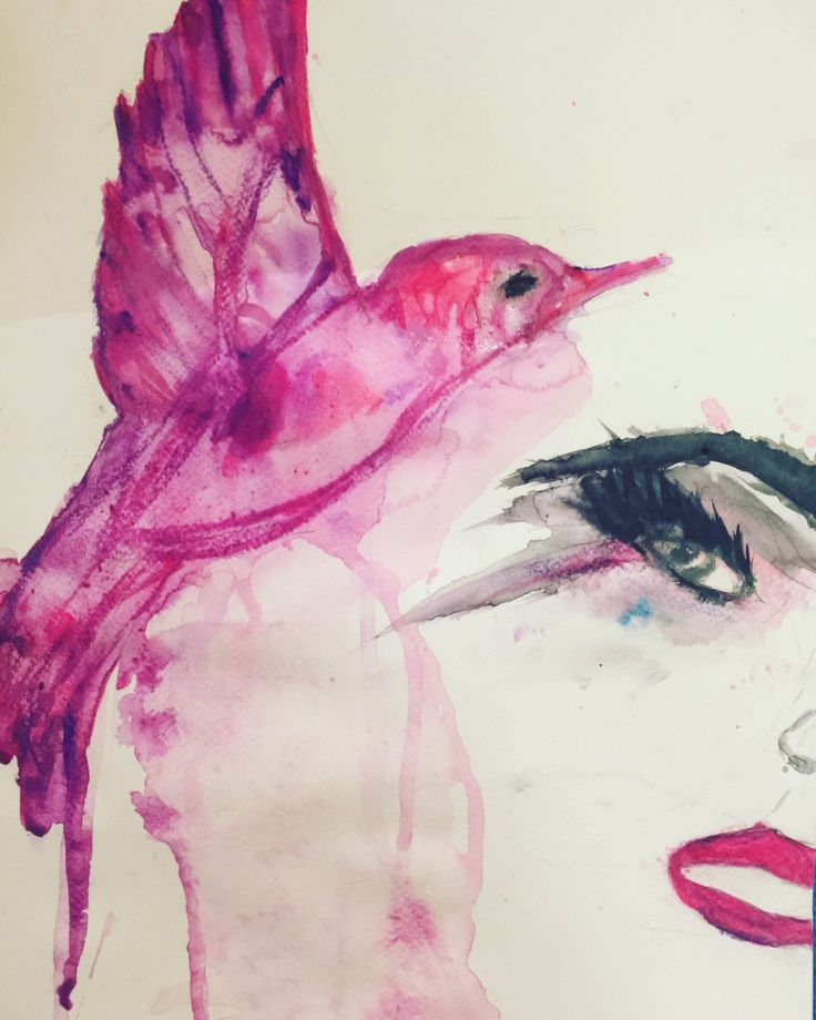 ORIGINAL Watercolor Painted by Signe Goldeneye, Titled - I am Wild and Free. by SigneGoldeneye on Etsy