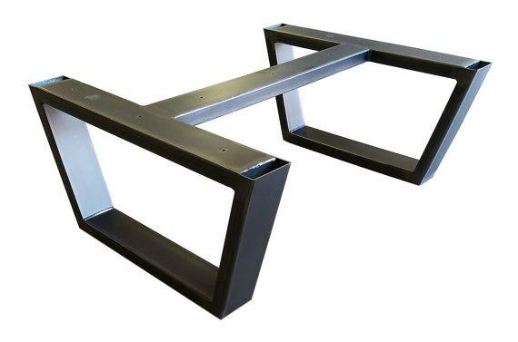 Metal Base de la mesa piernas por THEUrbanIronCraft en Etsy