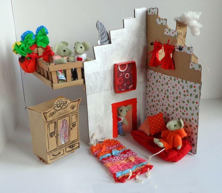 17 beste afbeeldingen over huis van karton op pinterest for Poppenhuis voor peuters