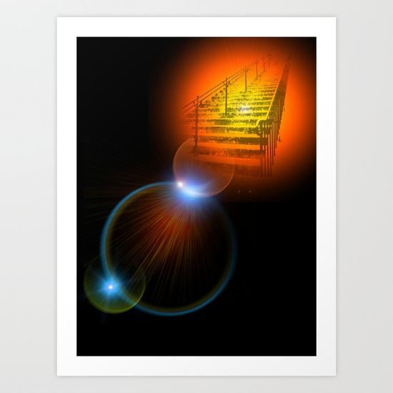 Stairway to Heaven Art Print by Helle Gade - $13.52 #art