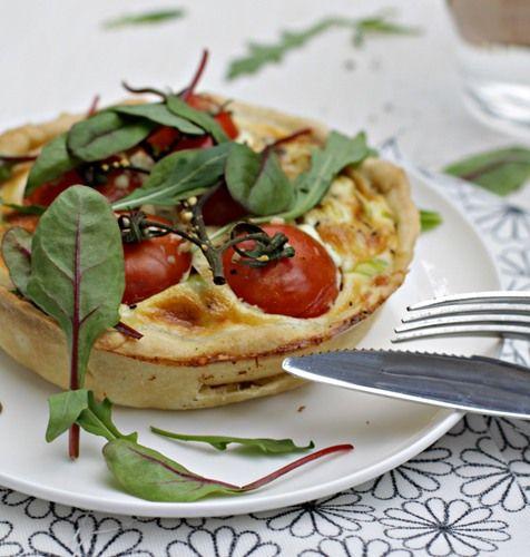 La Pâtissière - Quiche. Киш с томатами и мягким сыром.