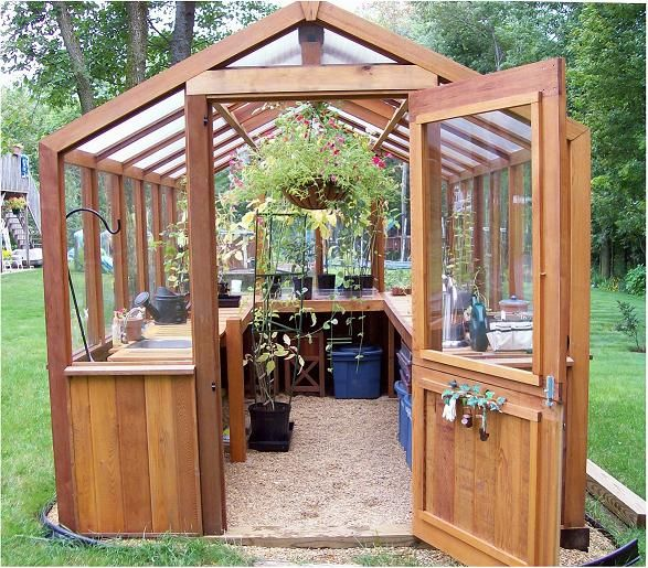 Small wooden greenhouse greenhouse pinterest shelves for 12x18 shed window
