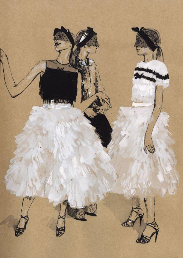 Giambattista Valli S/S 2015 Haute Couture Fashion Illustrations by Diana Kuksa: