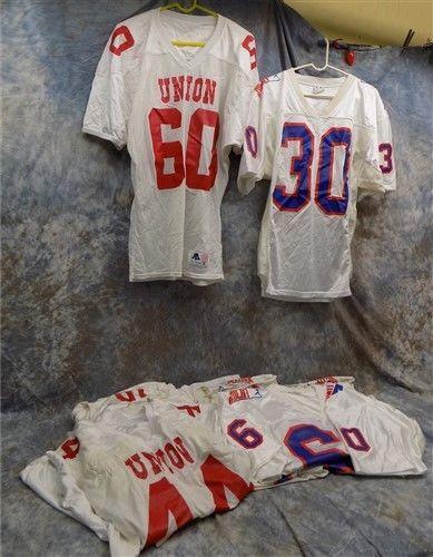 a112fb9ee eBay  Sponsored Lot High School Uniforms Union Football Jerseys Vintage  Athletic Sports Wear